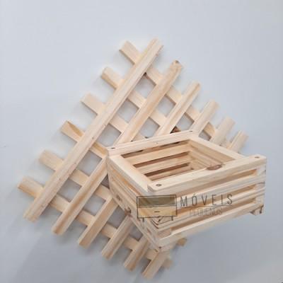 Floreira Cachepot de madeira imagem