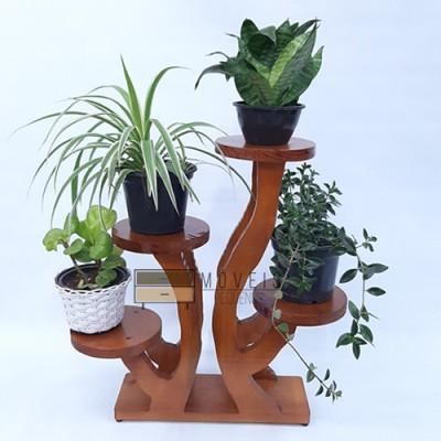 Prateleiras decorativa madera para varanda suporte flores rack de plantas modelo 101 imagem