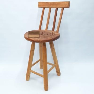 Banqueta media de madeira maciça Cadeiras, Banqueta imagem