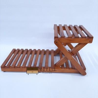 Suporte de madeira para plantas e suculentas modelo 95 Suporte para Plantas, Expositor de Plantas imagem